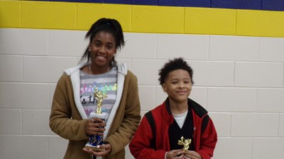 Spelling Bee Winner, Jakasha Bush and Alternate, Javon Looney